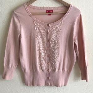 Elle Fine knit Coral Pink Cardigan size S